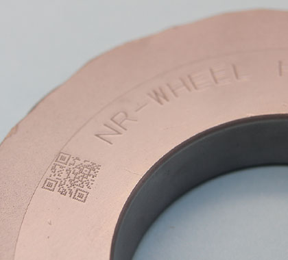 Arc marking on hardened steel (HRC60).