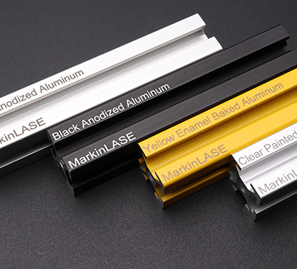Anodized aluminum profiles.