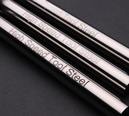 Variety marking abilities on high speed tool steels.