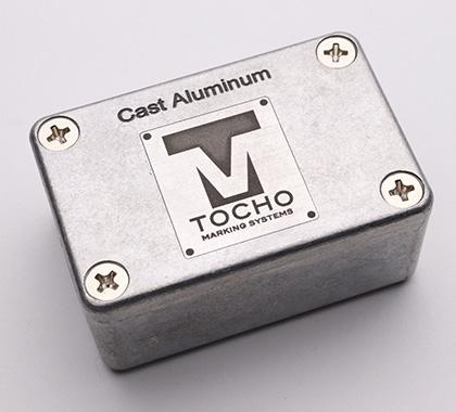 Aluminum cast.